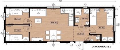 Lavaro House Z Nr.501 exkluzivně velký 57m2 NOVINKA roku 2020