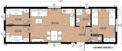 Lavaro House Zara Nr.501 exkluzivně velký 57m2 NOVINKA roku 2020